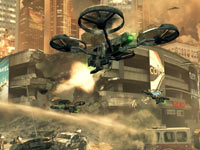Combat drones firing on human ground units in Call of Duty: Black Ops II