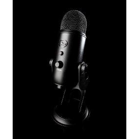 Blue Yeti USB Microphone - Blackout Edition - QuiBids com