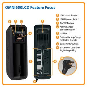 OMNI650LCD Feature Focus