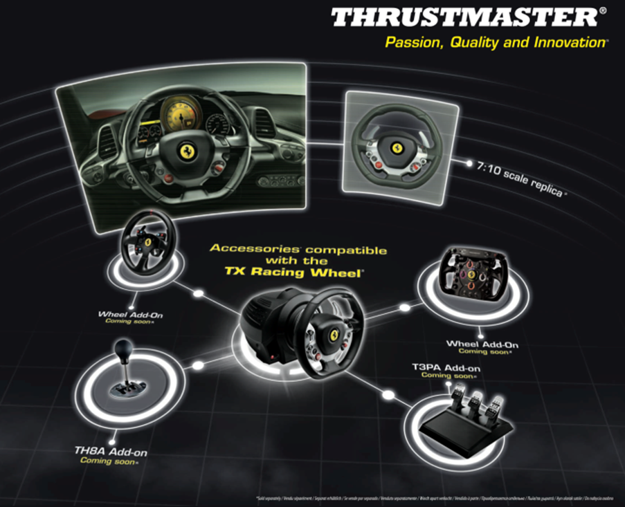 thrustmaster tmst4469016 tx racing wheel ferrari 458 italia edition. Black Bedroom Furniture Sets. Home Design Ideas