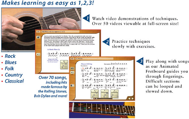 learn electric guitar in three steps